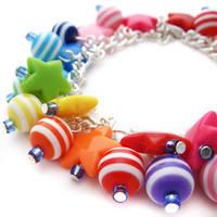 Stars+Stripes Charm Bracelet by fairy-cakes