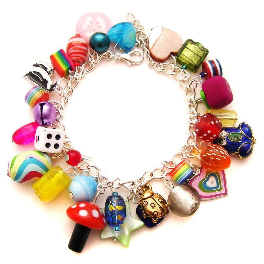 rainbow charm bracelet 6 by cakes on deviantart