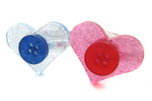 Glittery Heart Rings