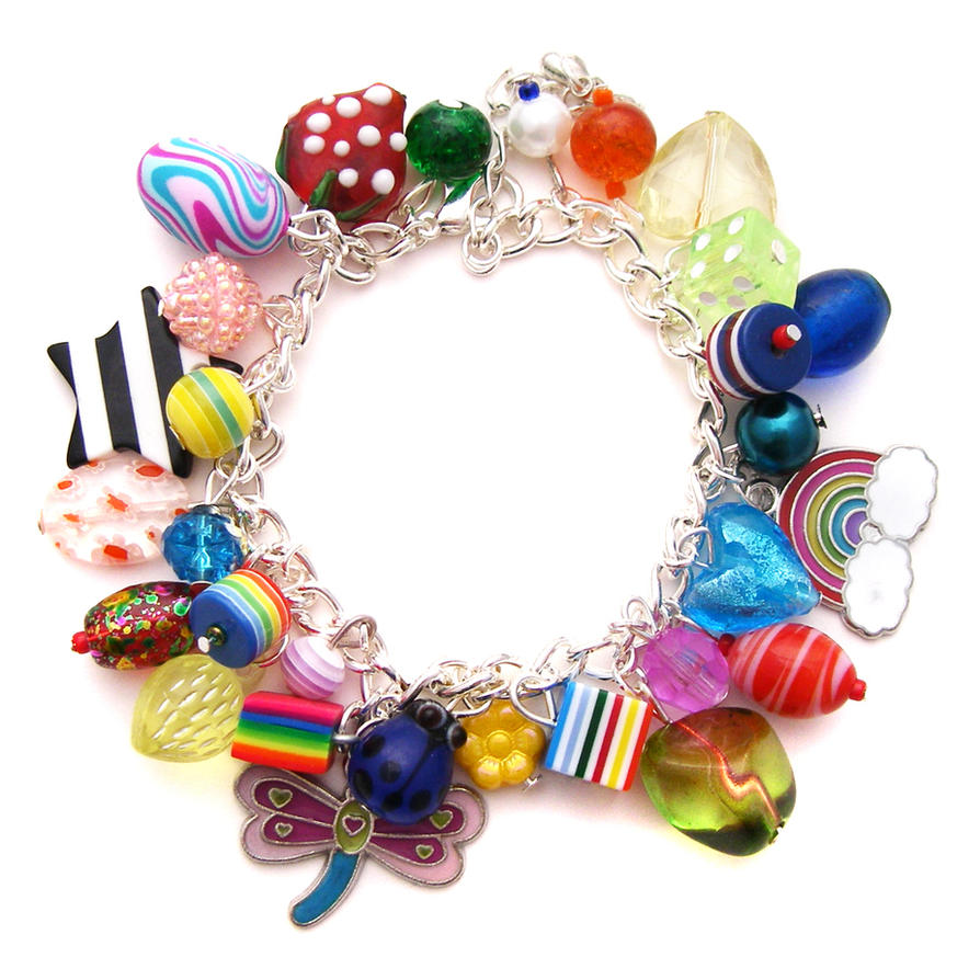 rainbow charm bracelet 8 by cakes on deviantart