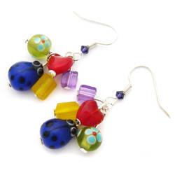 Rainbow Ladybird Earrings