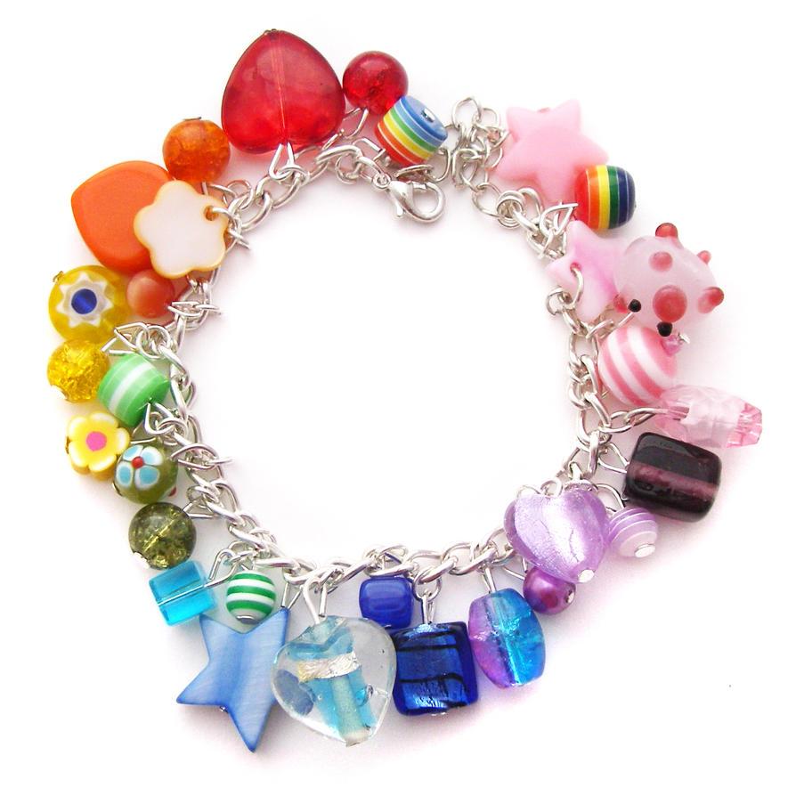 rainbow charm bracelet 9 by cakes on deviantart
