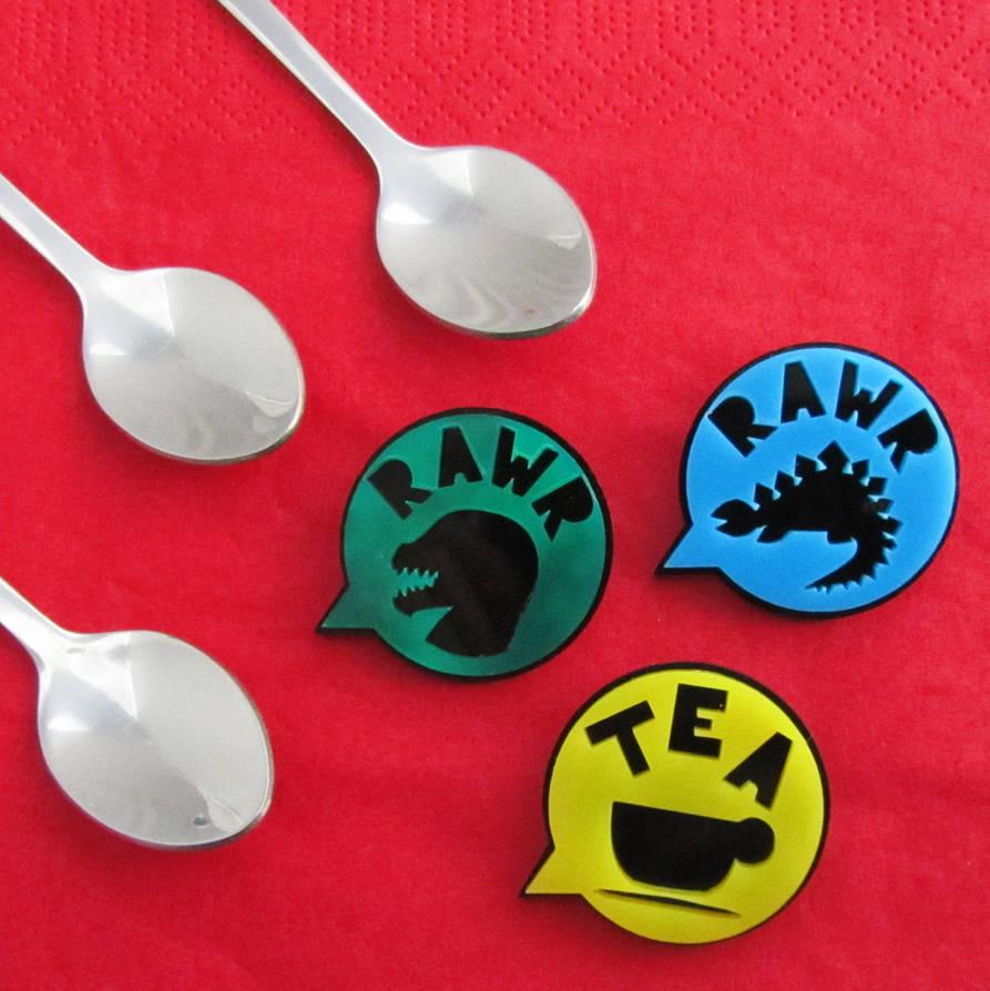 Rawr/Tea Brooch