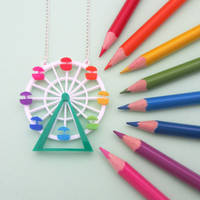 Ferris Wheel Necklace by fairy-cakes