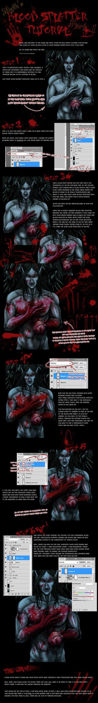 Blood Splatter Tutorial Part 1 by Mytherea