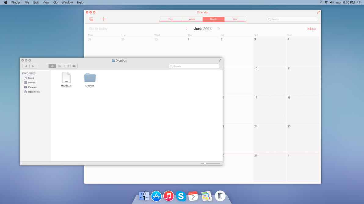 Mac OS X 10 mockup by toruzz