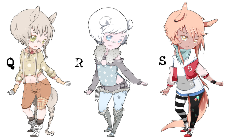 Adoptables: Q, R, S [CLOSED] by Kialun