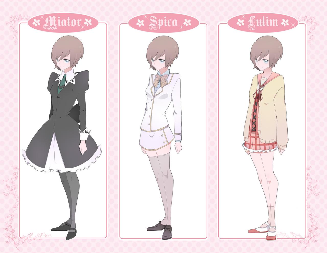 SM Valentina: uniforms by Kialun