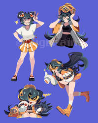 3 Poses Page COMMISSION Bugbrains