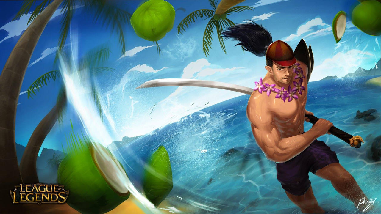 Yasuo Pool Party by poomkup on DeviantArt