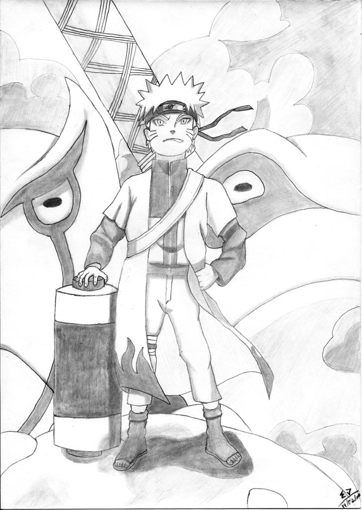 Naruto Sennin and kuchiose by edself