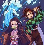 Tanjiro and Nezuko :: Demon Slayer FA
