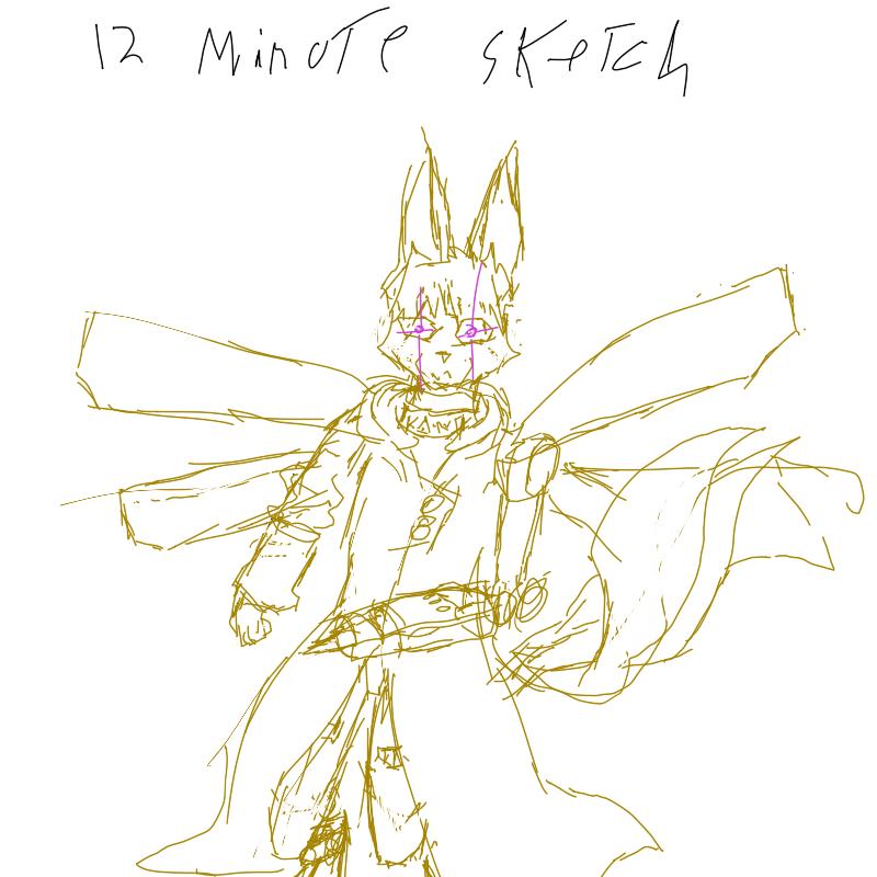 12 minute sketch by KaurisAzurai