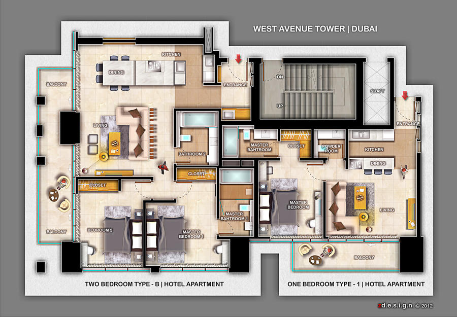 Zdesign 1 And 2 Bedroom Apartment