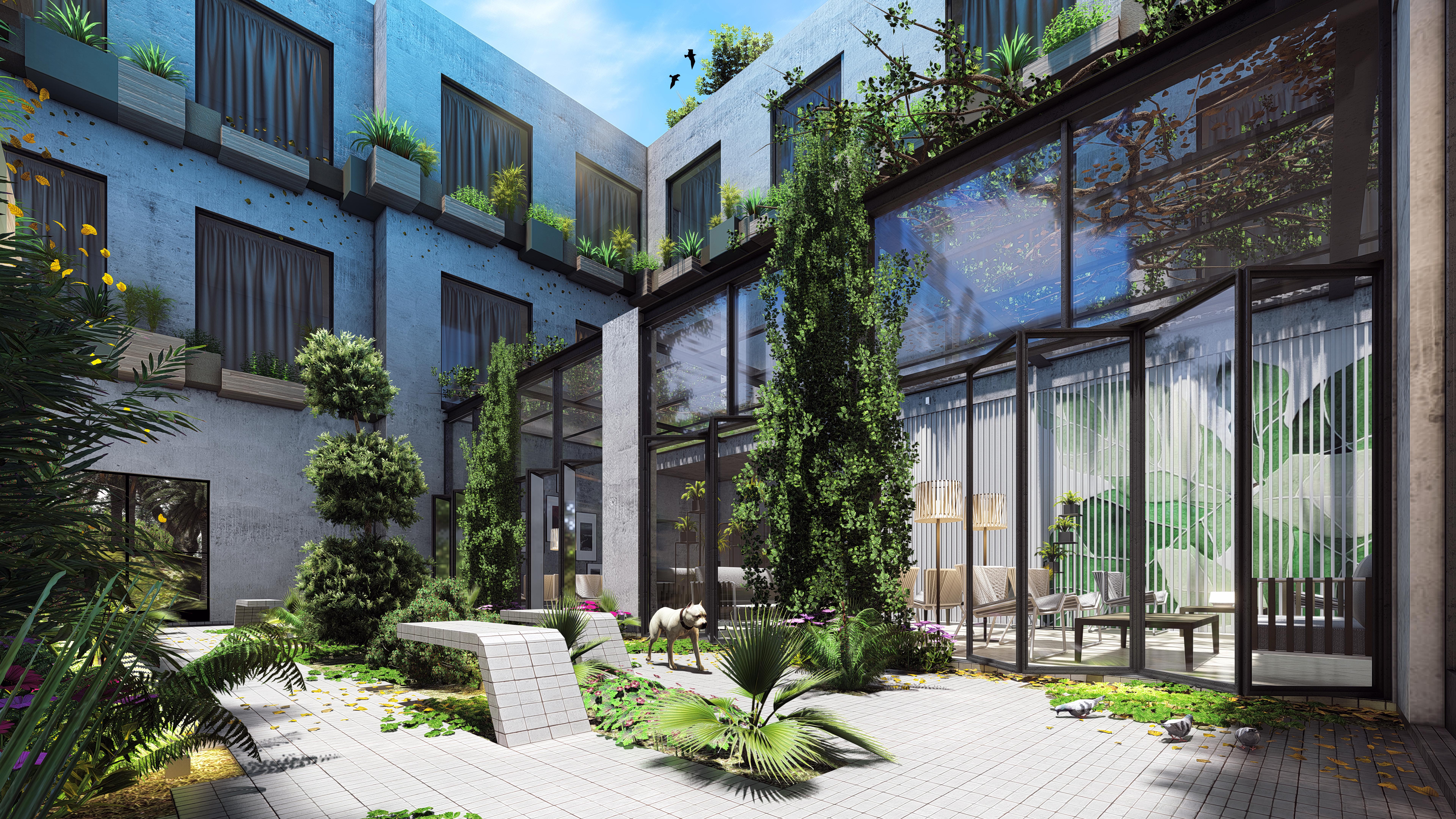 Courtyard...Lumion 8 render by Zorrodesign
