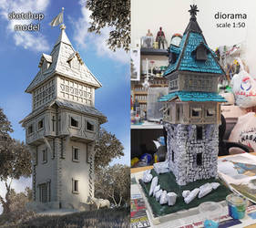 3d sketchup model to diorama - foam works