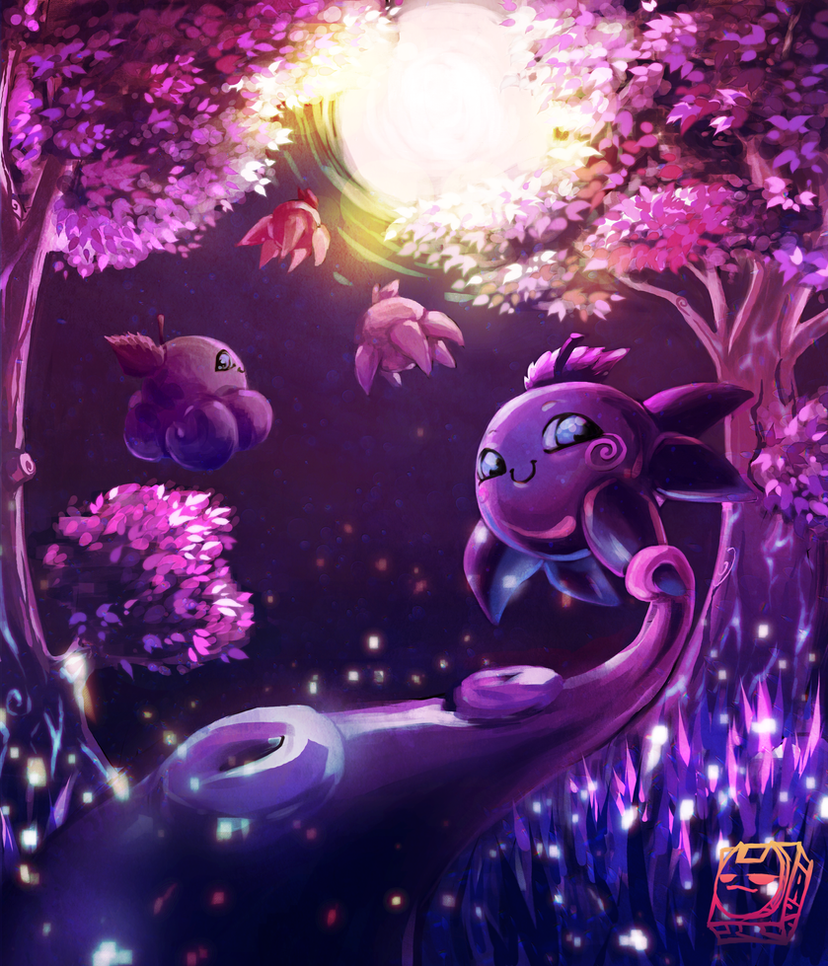 Octopuses go to the moon by Xapy