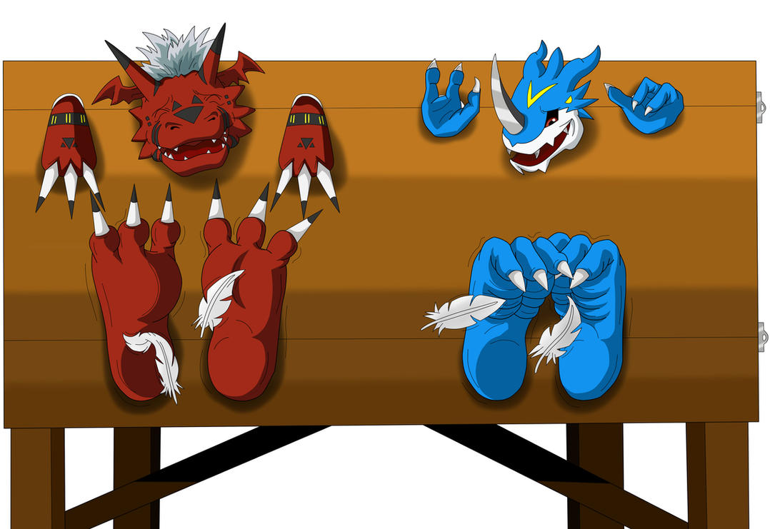 Digimon tickle torture by KenJ91