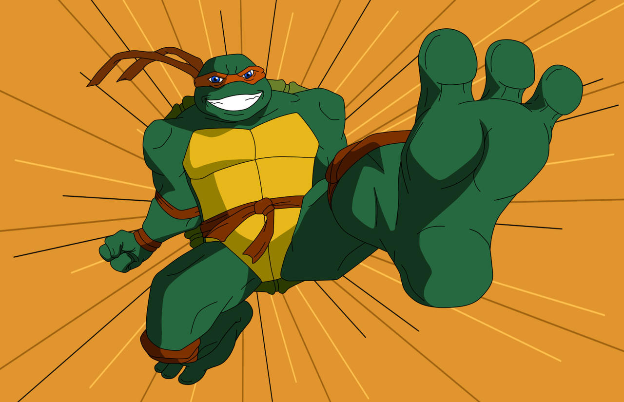 tmnt___michelangelo_big_feet_kick_by_ken