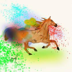 Horse Watercolor Concept