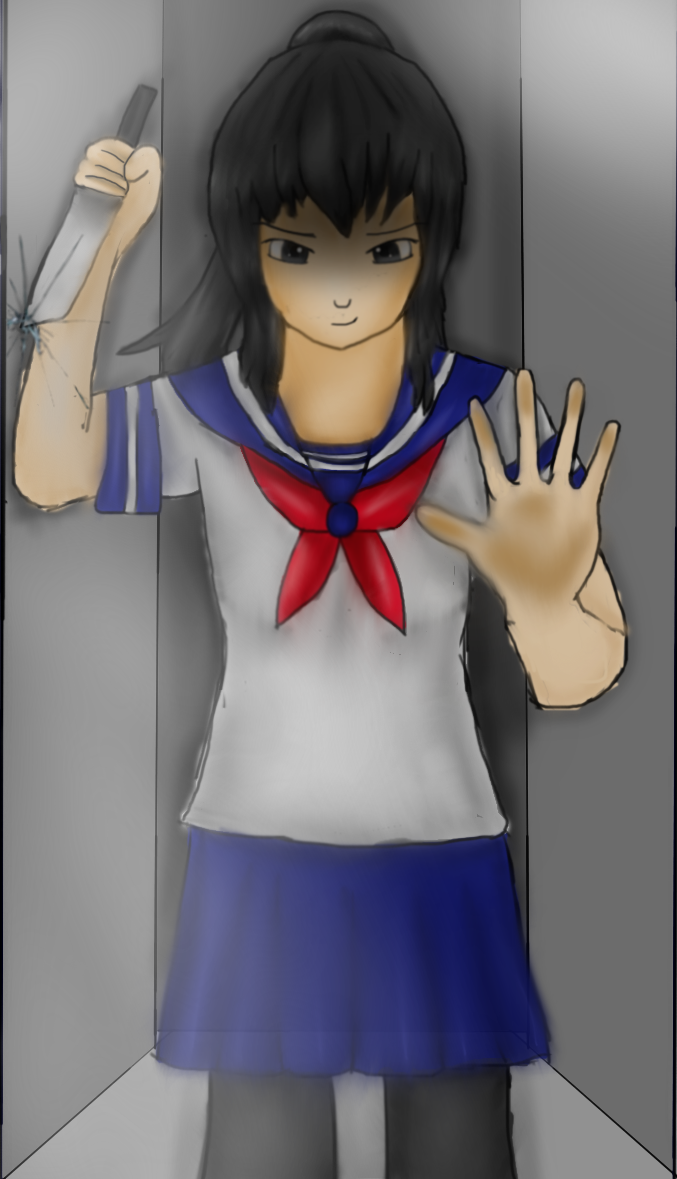 Yandere-chan Behind the Glass by Codexecutioner