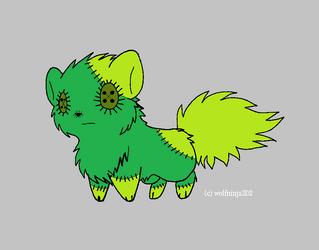 free Chibi Wolf adopt by kittensdeadlysins