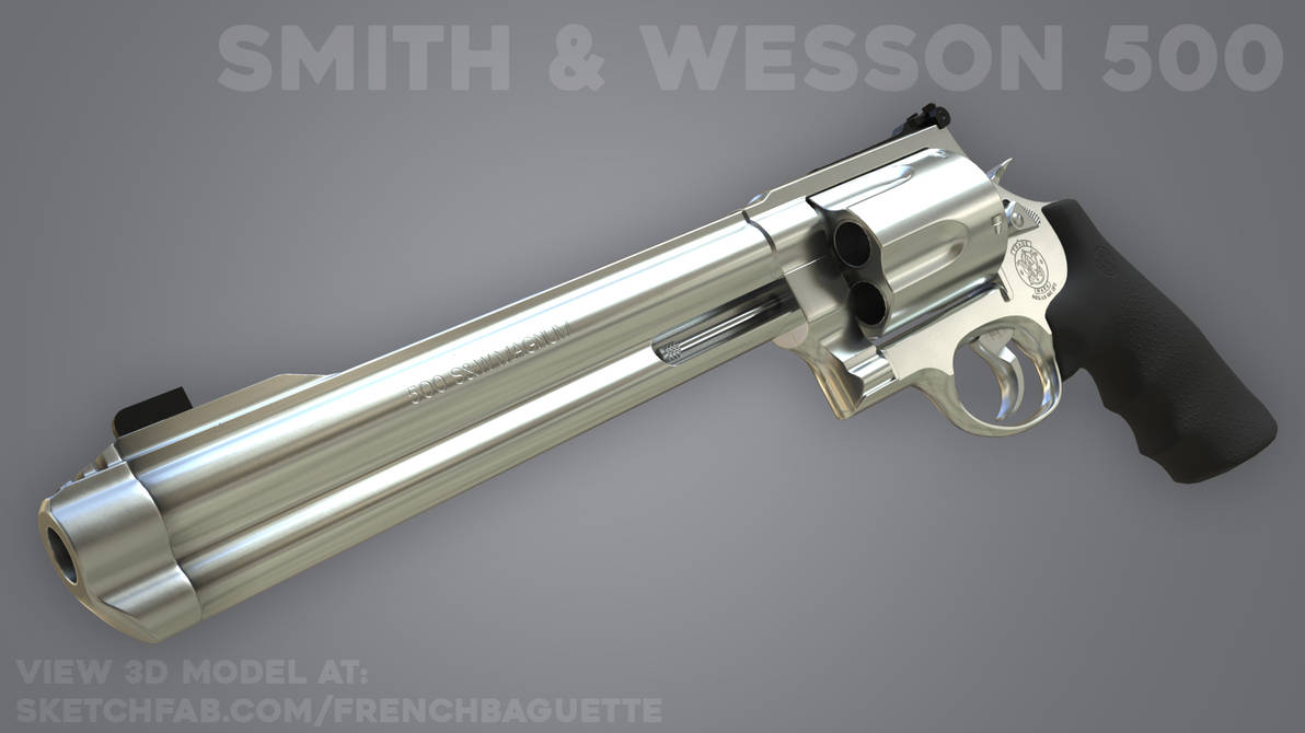 Smith and Wesson 500 Magnum by MrG-Art