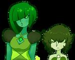 Green Diamond and Green Pearl