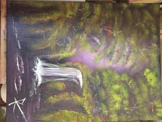 leo: waterfall by RoseDAmour