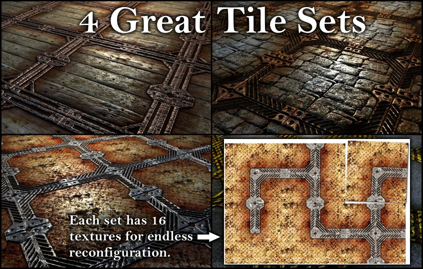 4 Frame Tile Sets