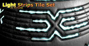 Light Strips Seamless Tile Set by SpiralGraphic