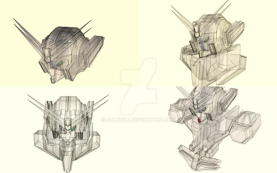 Unfinished mobile suit project GRX Rajawali Type Z by Dulodilz