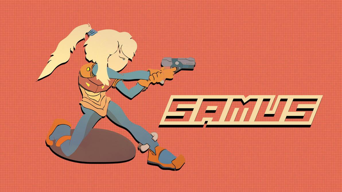 Samus Light Armor (before zero suit :P) by Dulodilz