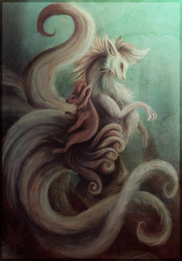 Vulpix and Ninetales by Lyswen