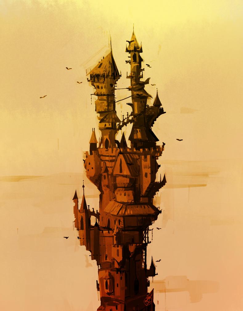 Tower of art by Sealinne