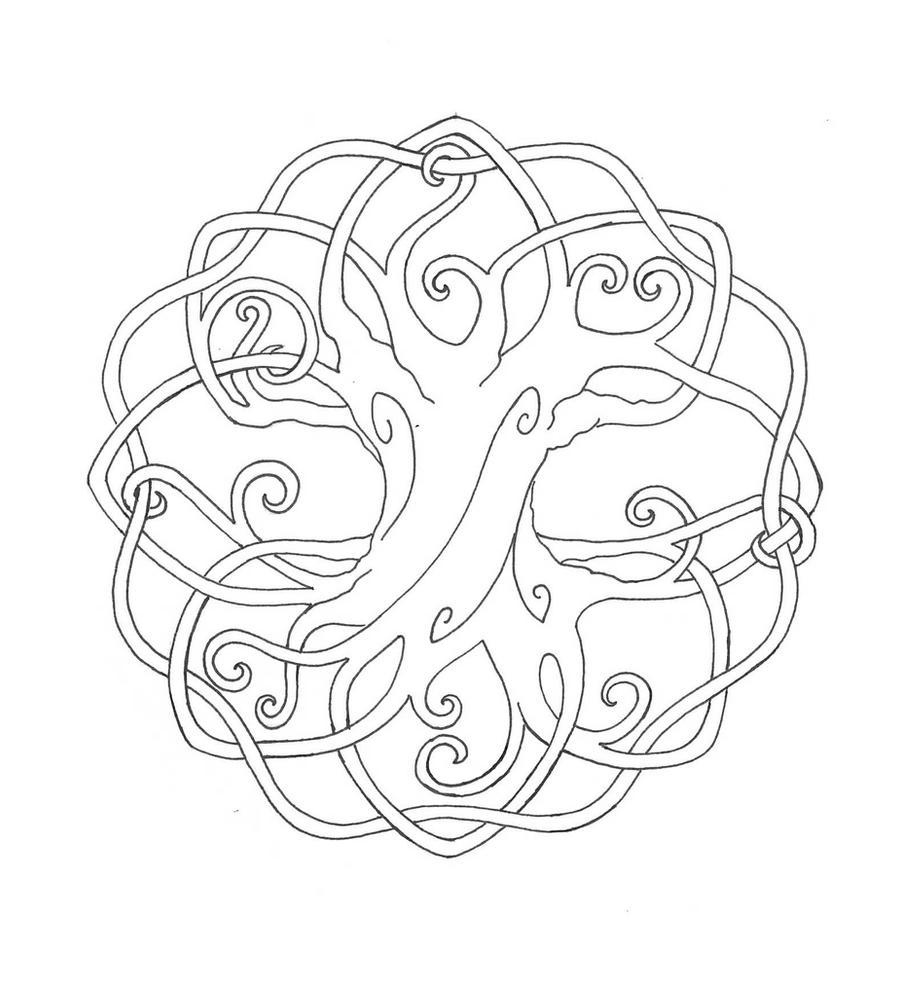 tree mandala coloring pages - photo#5