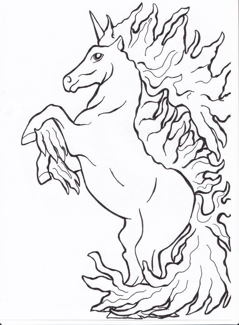 rapidash lineart by bambu on deviantart