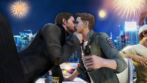 New Year Kiss by Piers-Michaelis