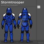 Smacksart Stormtrooper: Blue Squadron Commando