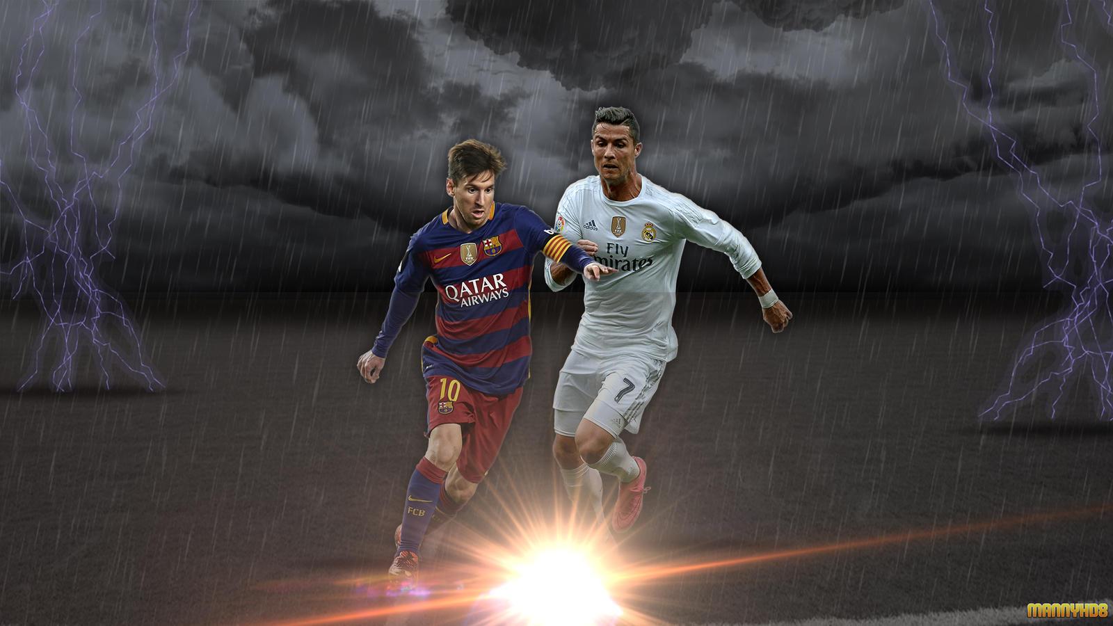 Wallpaper Messi Vs Cristiano Ronaldo 2016 By Mannyhd29 On Deviantart