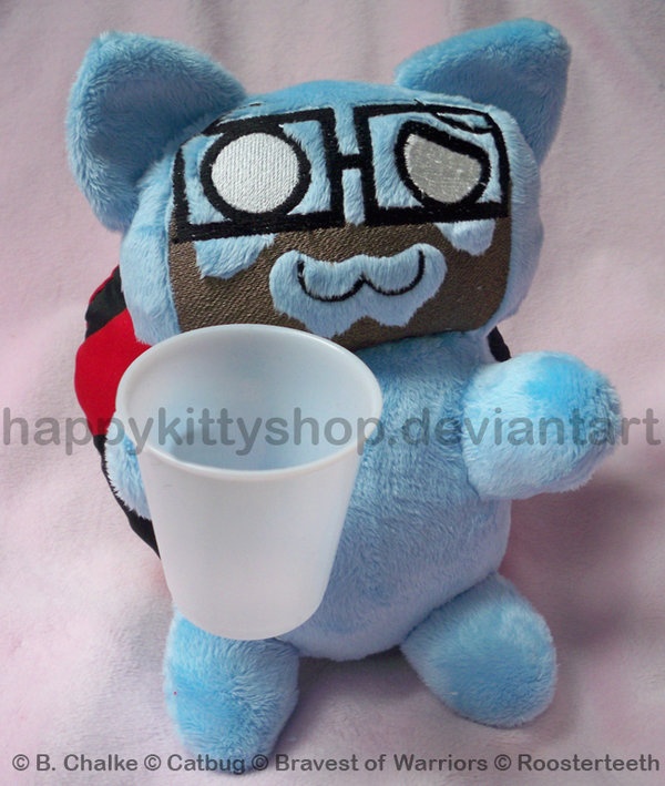 Burnie Catbug Plush by QueenBeePlush