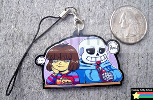 Sans and Frisk Charm by HappyKittyPlushies