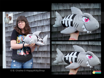 SkeleShark Plush! by HappyKittyPlushies