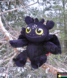 Toothless Chibi Plush by HappyKittyPlushies