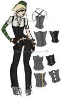 Steampunk Costume Sketch by AllieKitten