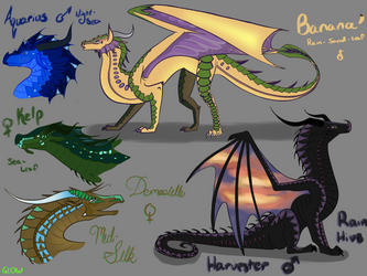 Surprise Adopts! 3/5 Open! by GlowingLoudly