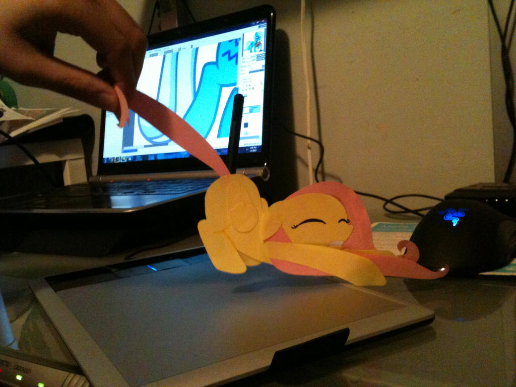 Fluttershy Paper doll by FilipinoNinja95