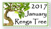 2017 January Renga Tree Stamp by saiun