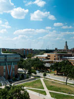 University of North Texas campus bird's eye view