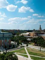 University of North Texas campus bird's eye view